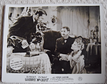 Goodbye Mr Chips, MGM FOH Still, Robert Donat, Greer Garson, '39 h